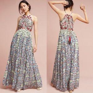 Anthro Halter Dress